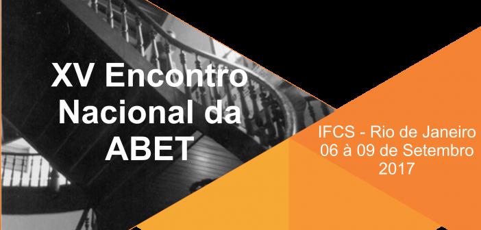 ABET 2017 – Associação Brasileira de Estudos do Trabalho