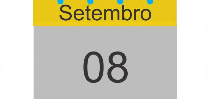Programação completa do dia 08 de Setembro
